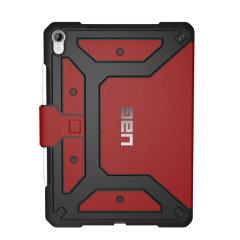 Statten Sie Ihr iPad 11 mit einem extremen, militärischen Schutz aus - mit dem Metropolis Flip Case in Rot von UAG. Schlagfest und wasserdicht, ist dies die ideale Art, Ihr iPad zu schützen.