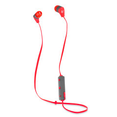Combining stylish metal casings, a comfortable fit with dynamic sound, in-line controls with mic for music, calls and wireless bluetooth support, the Kitsound Earphones in red are perfect for music lovers on the go.
