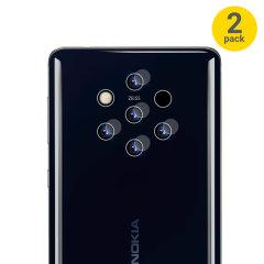 Protégez l'objectif appareil photo de votre Nokia 9 à l'aide de ce ce pack incluant deux verres trempés parfaitement ajustés. Chaque verre trempé est ultra-mince, totalement transparent et suffisamment robuste pour protéger efficacement l'objectif appareil photo.