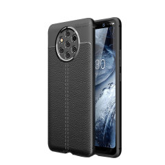 Flexible, rugged casing with a premium textured non-slip leather-effect and smooth matte finish, allied to beautiful engineered lines and executive looks, make the Olixar Attache a case for the discerning Nokia 9 user. Sleek, light and very robust.