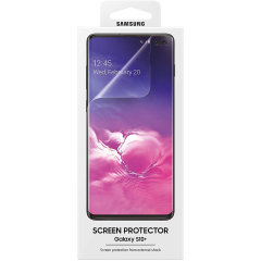 Keep your Samsung Galaxy S10 Plus screen in fantastic condition with the official Samsung scratch resistant screen protector.