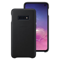 This Official Samsung Genuine Leather Cover Case in Black is the perfect way to keep your Galaxy S10e smartphone protected.