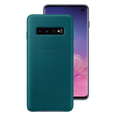 This Official Samsung Leather Cover in Green is the perfect way to keep your Galaxy S10 smartphone protected whilst keeping yourself updated with your notifications.