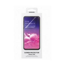 Maintenez l'écran de votre Samsung Galaxy S10e dans un état impeccable avec la protection d'écran officielle Samsung. Ce film plastique est résistant et protège l'écran de votre Samsung Galaxy S10e des rayures et des éraflures accidentelles.