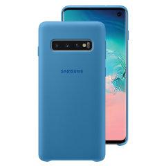 Protégez votre Samsung Galaxy S10 à l'aide de la coque Silicone Cover officielle de Samsung en coloris bleu. Simple et élégante, elle s'ajuste parfaitement à votre smartphone et le protège des aléas du quotidien.