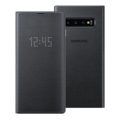 Protect your Samsung Galaxy S10 Edge screen from harm and keep up to date with your notifications through the intuitive LED display with the official Black LED cover from Samsung.