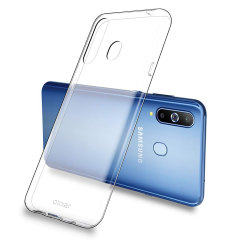 Custom moulded for the Samsung Galaxy A8S. This clear Olixar FlexiShield case provides a slim fitting stylish design and durable protection against damage, keeping your device looking great at all times.