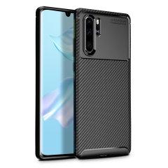 Robuste, souple et dotée d'une superbe finition en coloris noir mat et un look métal brossé, la coque Olixar effet fibre de carbone assure une protection et un look exceptionnel à votre Huawei P30 Pro.