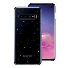Protect your Samsung Galaxy S10 from harm with the intuitive LED official case from Samsung in Black.