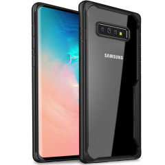Olixar NovaShield Samsung Galaxy S10 Plus Bumper Case - Black / Clear