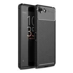 Olixar Carbon Fibre Sony Xperia XZ4 Compact  Case - Black