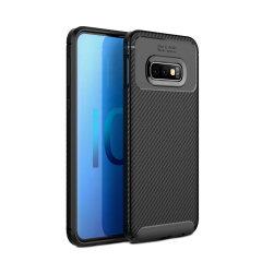 Robuste, souple et dotée d'une superbe finition en coloris noir et un look métal brossé, la coque Olixar effet fibre de carbone assure une protection et un look exceptionnel à votre Samsung Galaxy S10e.