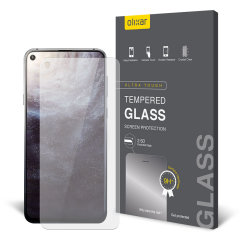 This ultra-thin tempered glass screen protector for the Samsung Galaxy A8s from Olixar offers toughness, high visibility and sensitivity all in one package.
