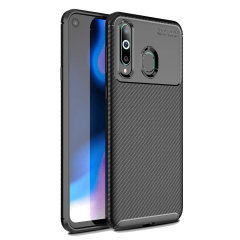 Olixar Carbon Fibre case is a perfect choice for those who need both the looks and protection! A flexible TPU material is paired with an eye-catching carbon print to make sure your Samsung Galaxy A8s is well-protected and looks good in any setting.