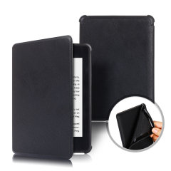 This stylish black soft touch leather-style folio case from Olixar will protect your Kindle Paperwhite 4 (2018) from all kinds of knocks.