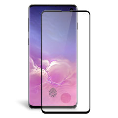 Keep your Samsung Galaxy S10's screen in pristine condition with this Olixar Tempered Glass curved screen protector, designed for full coverage of your phone's screen. This design leaves enough space for a case too.