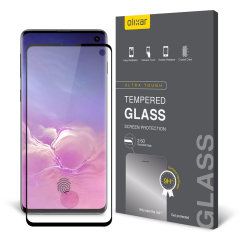 Keep your Samsung Galaxy S10's screen in pristine condition with this Olixar Tempered Glass screen protector, designed to cover and protect even the curved edges of the phone's unique display. Black edges match the phone perfectly.