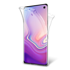 At last, a Samsung Galaxy S10e case that offers all around front, back and sides protection and still allows full use of the phone. The Olixar FlexiCover in crystal clear is the most functional and protective gel case yet.