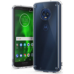 Secure your device with the highest quality clear Motorola Moto G6 Case from Rearth Ringke. With the shock absorption technology and premium thermoplastic polyurethane bumpers for the easy grip, this case provides the maximum protection for your phone.