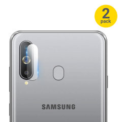 This 2 pack of ultra-thin tempered glass rear camera protectors for the Samsung Galaxy A8S from Olixar offers toughness and superb clarity for your photography all in one package.