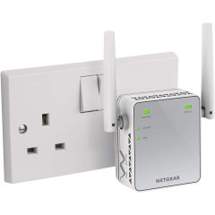 Stay connected with NETGEAR N200 Wi-Fi- Extender, which expands the signal coverage in every corner of your home.  Plugged into the power socket works with any standard Wi-Fi router & is ideal for keeping your mobile devices connected.