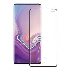 Das 3D-Glas von Eiger, das den ultimativen Bildschirmschutz für das Samsung Galaxy S10 Plus bietet, besteht aus hochwertigem Echtglas mit abgerundeter Kante und Splitterschutzfolie.