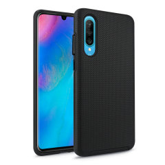The Eiger North Dual Layer Protective Case in black is a hybrid ergonomic protective case for the Huawei P30, providing fantastic protection without adding excessive bulk.