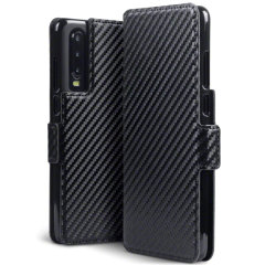 All the benefits of a wallet case but far more streamlined. The Olixar Carbon Fibre Textured Low Profile in black is the perfect partner for the the Huawei P30 owner on the move. What's more, this case transforms into a handy stand to view media.