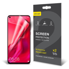 Keep your Huawei Nova 4 screen in pristine condition with this Olixar scratch-resistant screen protector 2-in-1 pack.