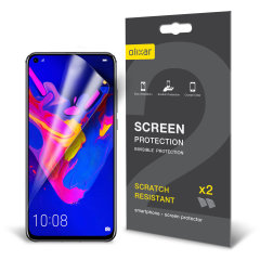 Keep your Huawei Honor View 20 screen in pristine condition with this Olixar scratch-resistant screen protector 2-in-1 pack.