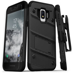 Equip your Samsung Galaxy J2 with military grade protection and superb functionality with the ultra-rugged Bolt case in black from Zizo. Coming complete with a handy belt clip and integrated kickstand.