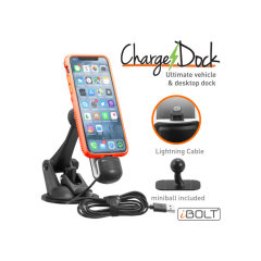 The ChargeDock Lightning is a perfect car docking solution for your iPhone. It is compatible with iPhone 5 or newer and it is a perfect way to charge your iPhone safely while driving.