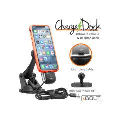 Das ChargeDock Lightning ist eine perfekte Auto-Docking-Lösung für Ihr iPhone. Es ist kompatibel mit dem iPhone 5 oder neuer und es ist eine perfekte Möglichkeit, Ihr iPhone sicher während der Fahrt aufzuladen.