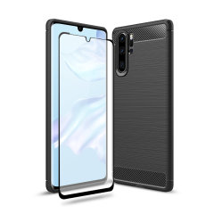 Flexible rugged casing with a premium matte finish non-slip carbon fibre and brushed metal design, the Olixar Sentinel case in black keeps your Huawei P30 Pro protected from 360 degrees with the added bonus of a tempered glass screen protector.