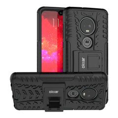 Protect your Motorola Moto G7 from bumps and scrapes with this black ArmourDillo case. Comprised of an inner TPU case and an outer impact-resistant exoskeleton, the Armourdillo not only offers sturdy and robust protection, but also a sleek modern styling
