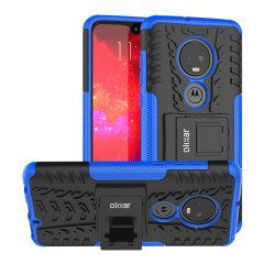 Schützen Sie Ihr Motorola Moto G7 vor Stößen und Kratzern mit diesem blauen ArmourDillo Koffer. Bestehend aus einem inneren TPU-Gehäuse und einem äußeren schlagfesten Exoskelett, bietet der Armourdillo nicht nur robusten und robusten Schutz, sondern auch ein elegantes, modernes Design.