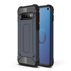 Protect your Samsung Galaxy S10 from bumps and scrapes with this slate blue Delta Armour case from Olixar. Comprised of an inner TPU section and an outer impact-resistant exoskeleton.