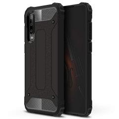 Skydda din Huawei P30 från stötar och repor med detta skifferblå Delta Armour-skal från Olixar. Det består av en inre TPU-sektion och ett yttre slagtåligt exoskelett.