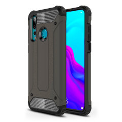 Protect your Huawei Nova 4 from bumps and scrapes with this gunmetal grey Delta Armour case from Olixar. Comprised of an inner TPU section and an outer impact-resistant exoskeleton.