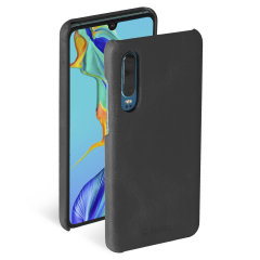 Krusell's Sunne cover in vintage black combines Nordic chic with Krusell's values of sustainable manufacturing for the socially-aware Huawei P30 owner who wants an elegant genuine leather accessory.