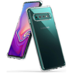 Protect your shiny new  Samsung Galaxy S10  with this Rearth Ringke Fusion Dual Layer bumper case. The clear design will perfectly highlight the stunning contours of the Samsung Galaxy S10, whilst keeping it protected from bumps and scratches at all time