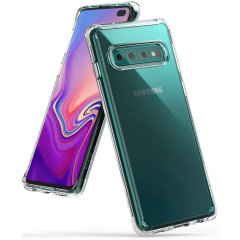 Protect your Samsung Galaxy S10 Plus with this Rearth Ringke Fusion Dual Layer bumper case. The clear design will perfectly highlight the stunning contours of the Samsung Galaxy S10 Plus, whilst keeping it protected from bumps and scratches at all time.