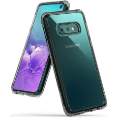 Protect your shiny new Samsung Galaxy S10e with this Rearth Ringke Fusion Dual case in Smoke Black. The clear design will perfectly highlight the stunning contours of the Galaxy S10e, whilst keeping it protected from bumps and scratches at all times