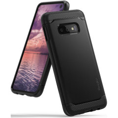 Provide your shiny new Samsung Galaxy S10e with a sleek, yet heavy-duty protection and premium brushed metal look offering Rearth Ringke Onyx case. The precision-cut design and anti-slip finish will preserve the aesthetic and offer great comfort.