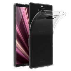 Dieses klare FlexiShield-Gehäuse von Olixar wurde speziell für den Sony Xperia 10 Plus entwickelt und bietet einen schlanken Sitz und dauerhaften Schutz vor Beschädigungen mit einem verführerischen tiefschwarzen Erscheinungsbild.