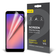 Keep your Google Pixel 3a's screen in pristine condition with this Olixar scratch-resistant screen protector 2-in-1 pack.