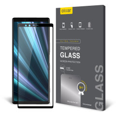 This ultra-thin tempered glass full cover screen protector for the Sony Xperia 1 from Olixar with black front offers toughness, high visibility and sensitivity all in one package.