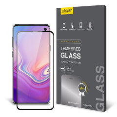 Keep your Samsung Galaxy S10e's screen in pristine condition with this Olixar Tempered Glass screen protector, designed to cover and protect even the curved edges of the phone's unique display. Black edges match the phone perfectly.