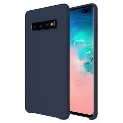 Olixar Samsung Galaxy S10 Plus Soft Silicone Case - Midnight Blue