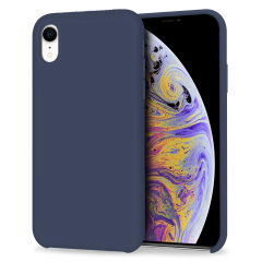Custom moulded for the iPhone XR, this midnight blue soft silicone case from Olixar provides excellent protection against damage as well as a slimline fit for added convenience.